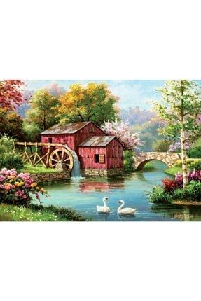 Art Puzzle Kırmızı Eski Değirmen 1000 Parça Puzzle