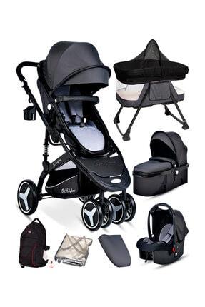 Baby Home 945 Paris Travel Sistem Bebek Arabası + Anne Yanı Sepet Beşik 7'in 1 Full Takım