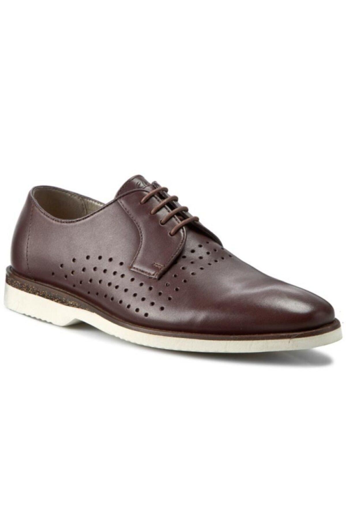 CLARKS Erkek Kestane Deri Ayakkabı 1