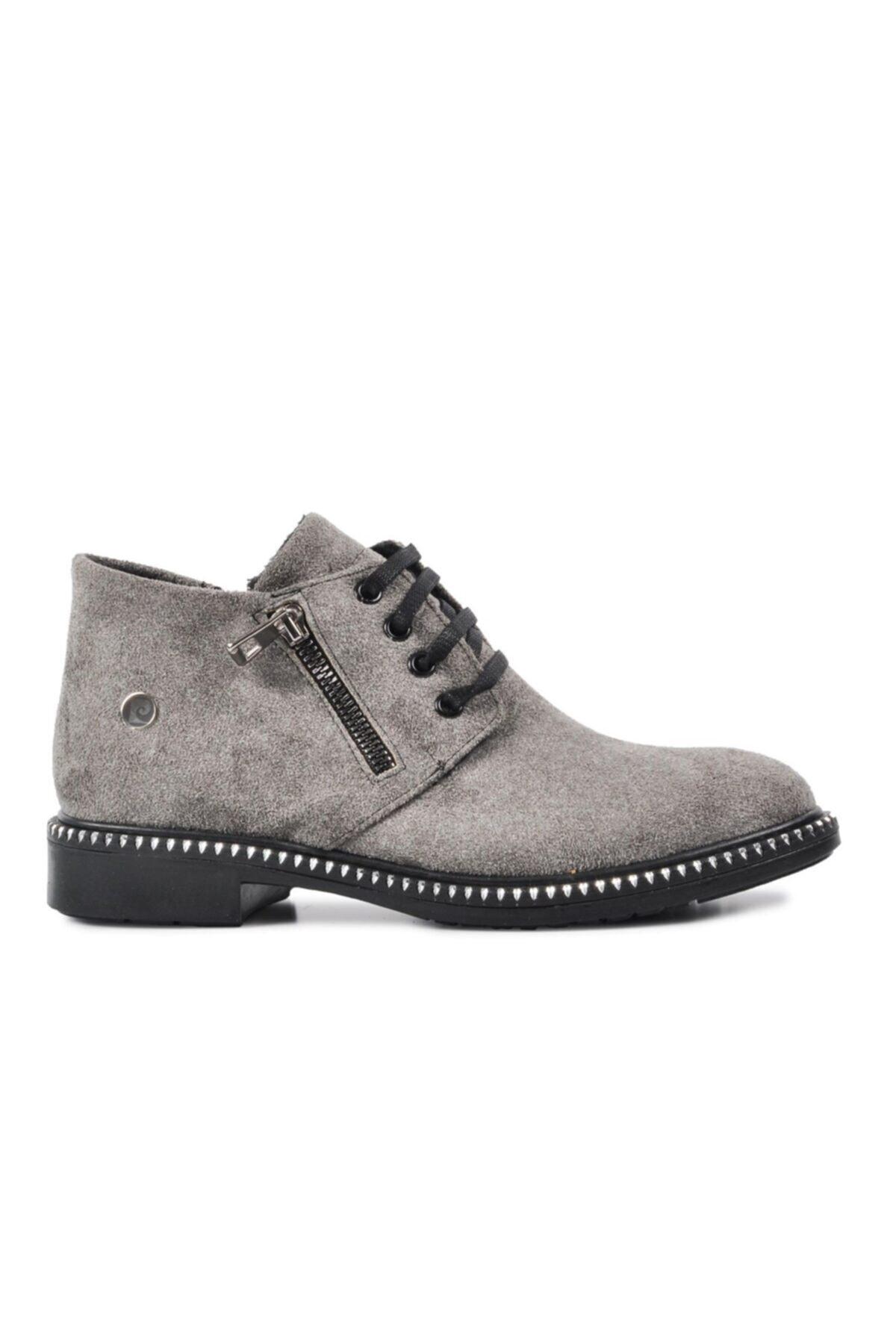 Pierre Cardin Kadın Gri Süet Günlük Ayakkabı 50421 1