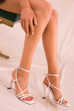 SOHO Beyaz Kadın Klasik Topuklu Ayakkabı 15859