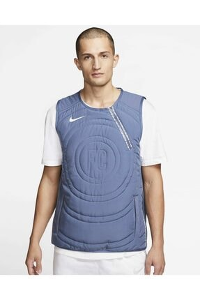 Nike Erkek Mavi F.c. Men's Football Gilet Yelek Bq5731 491