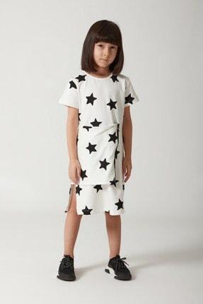 MonoKido Kız Çocuk Siyah Beyaz Elbise