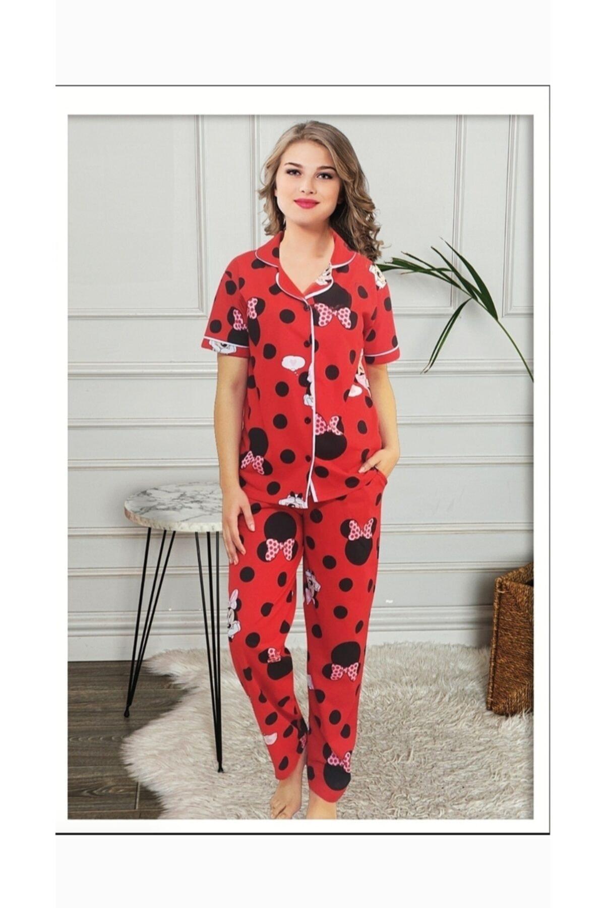 MINNIE Kadın Kırmızı Pijama Takımı 1