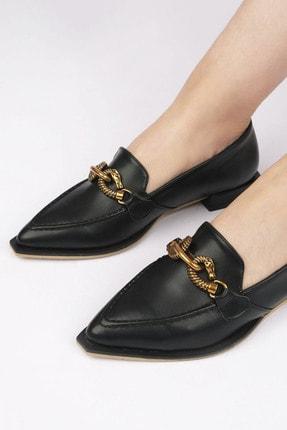Marjin Tolira Kadın Günlük Loafer Ayakkabısiyah