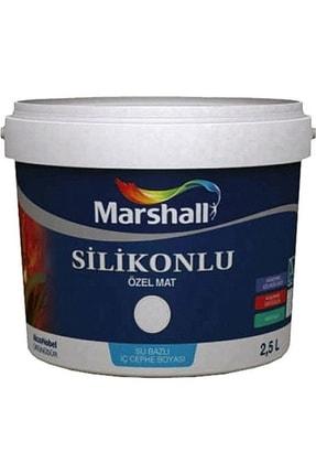 Marshall Özel Mat Ipek Mat Su Bazlı Silikonlu Duvar Boyası 7,5 Lt = 10 Kg Kemik Beyazı