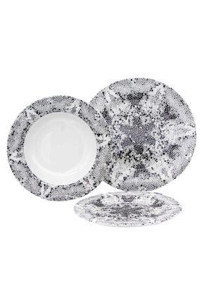 Aryıldız 6 Kişilik 24 Parça Porselen Günlük Yemek Takımı