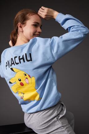 DeFacto Pokemon Lisanslı Oversize Fit Sweatshirt
