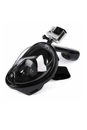 Amphibian Pro Freebreath Full Face Siyah Dalış Maskesi Easybreath Stili