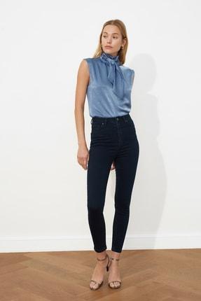 TRENDYOLMİLLA Lacivert Yüksek Bel Skinny Jeans TWOSS21JE0034