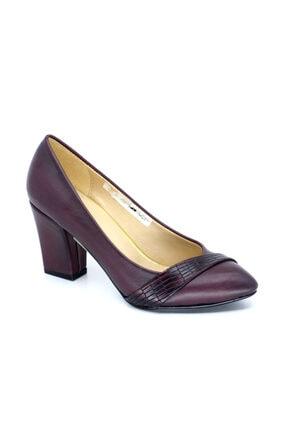 PUNTO 634065 Z Topuklu Deri Bayan Ayakkabısı