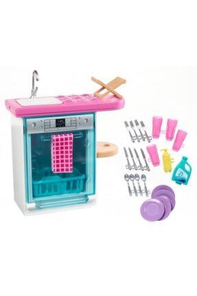 Barbie Nin Ev Içi Dekorasyon Aksesuarları Bebek Bulaşık Makinesi
