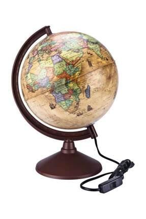 Brons Antik-ışıklı Dünya Küre 26 Cm. Çap