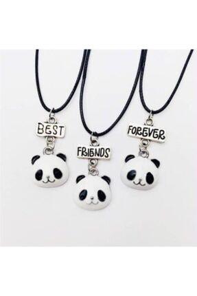 ema Bff Best Friends Forever 3lü Panda Kolye Hediyelik Şık