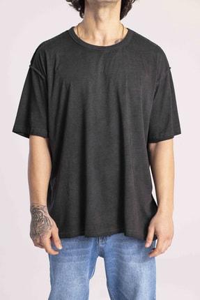 Catch Erkek Siyah Basic Oversize T-shirt Y-552