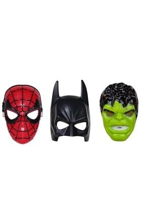 RoseRoi Spiderman Örümcek Adam & Batman Ve Hulk 3'lü Maske