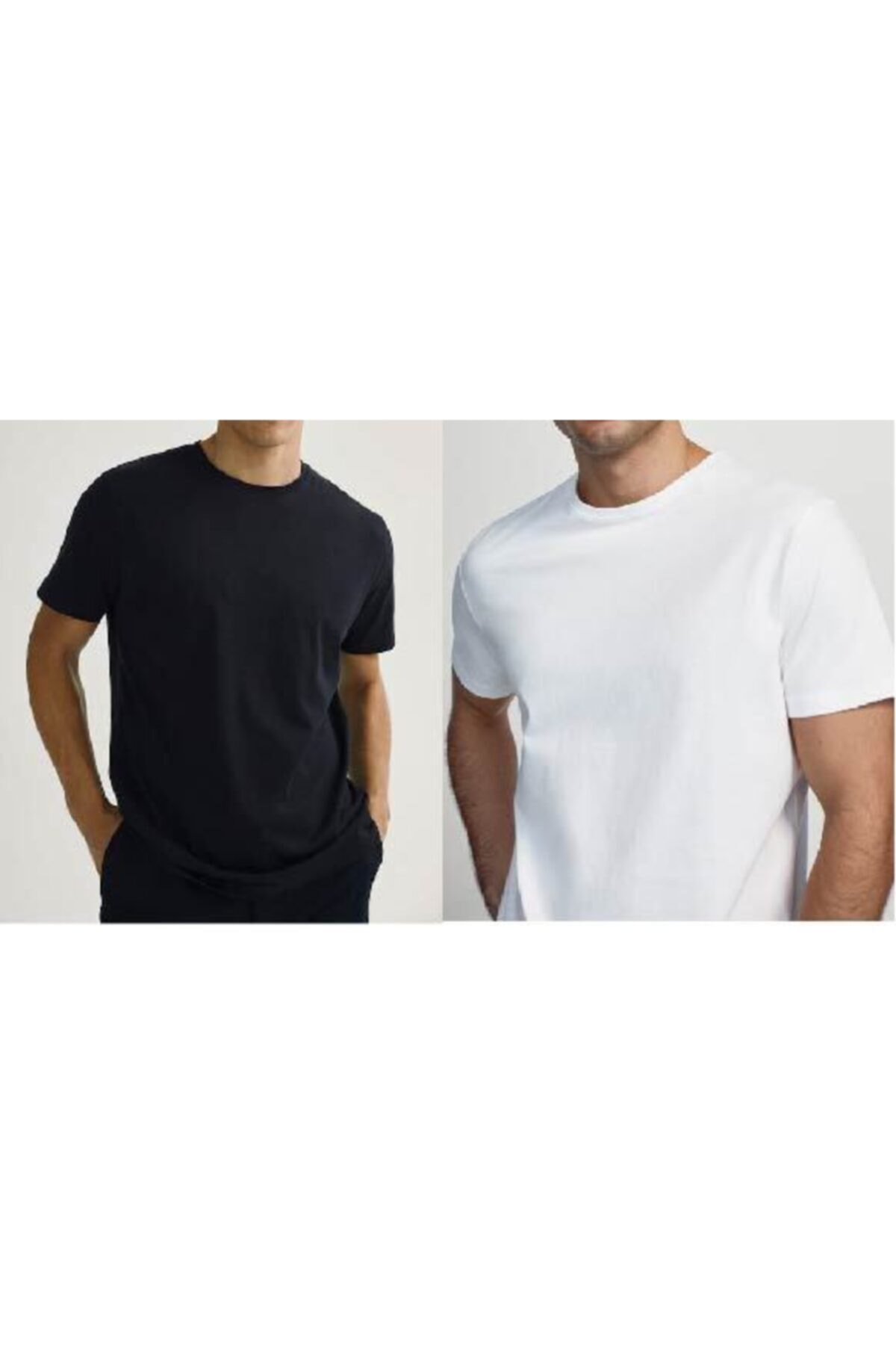 ROS Erkek Çok Renkli Casual Fit T-shirt 2'li Paket 1