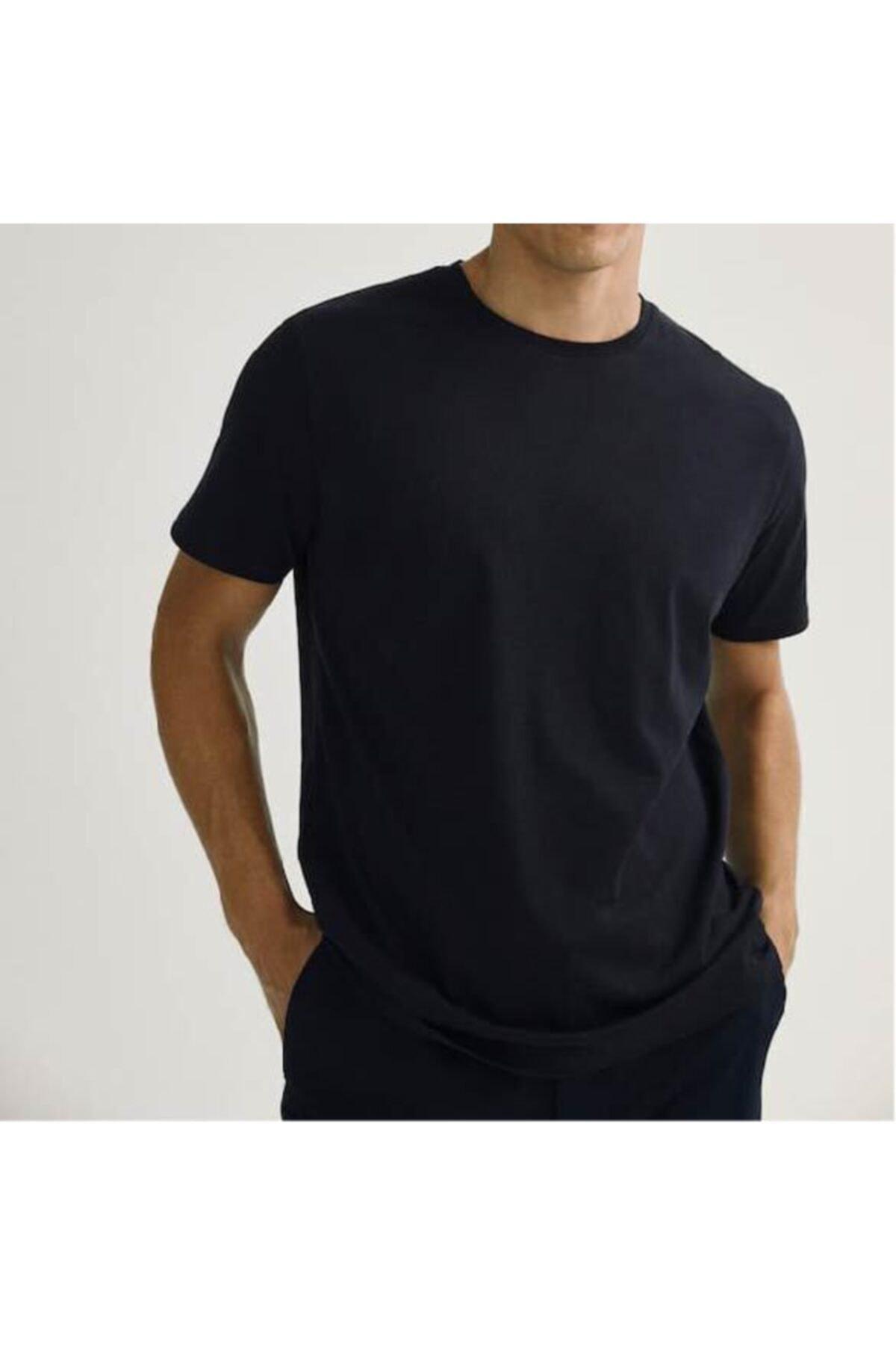 ROS Erkek Çok Renkli Casual Fit T-shirt 2'li Paket 2