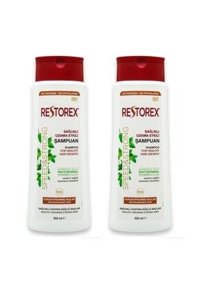 Restorex Şampuan Sağlıklı Uzama Etkili Kuru Ve Yıpranmış Saçlar Için Sarmaşık Özlü 500 Ml X 2 Adet