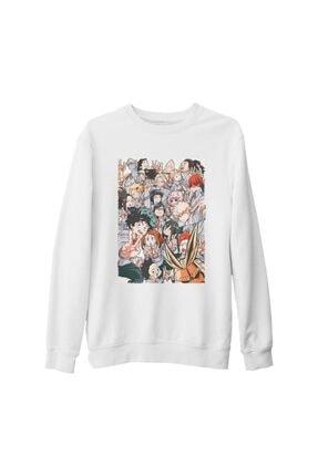 Lord T-Shirt My Hero Academia Beyaz Kalın Sweatshirt