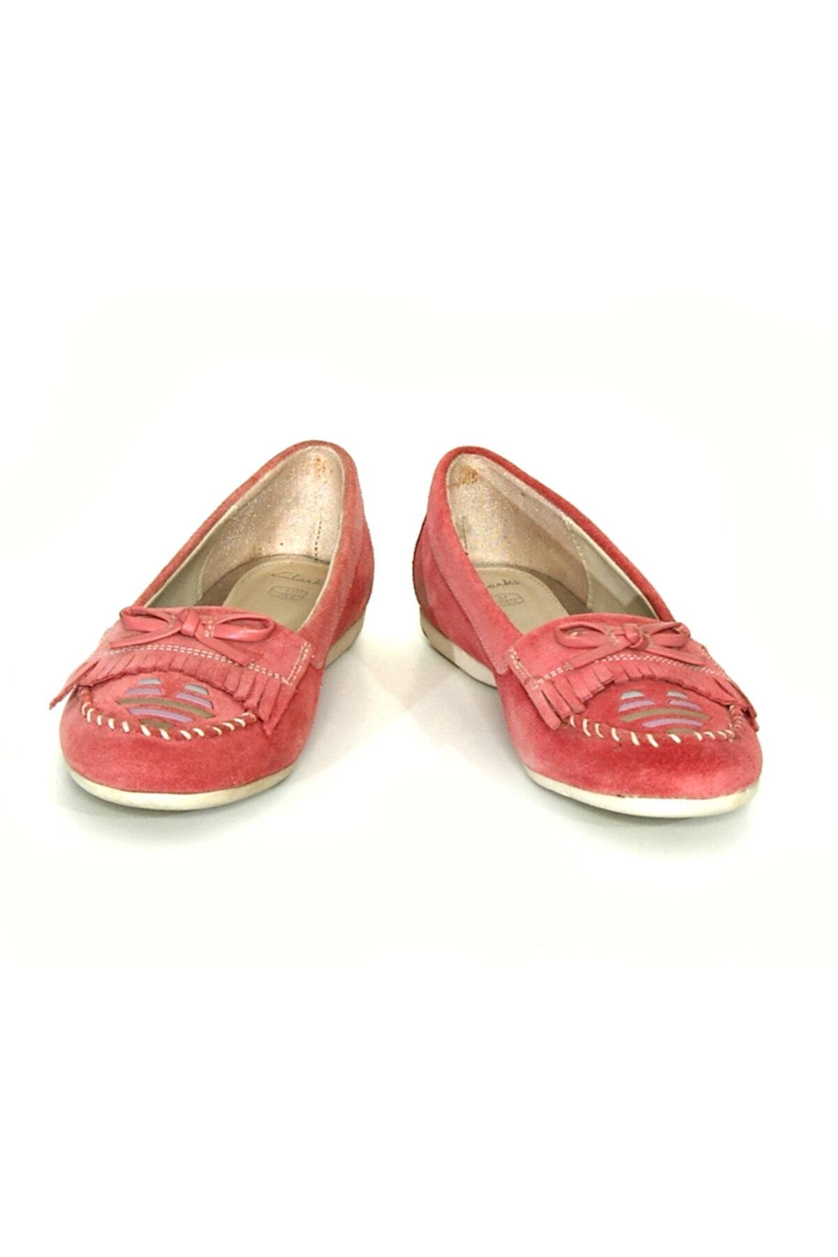 CLARKS Kız 7 Yaş Üstü Babet Ayakkabı Şık Ve Rahat Pink Patent 2