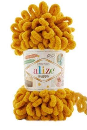 Alize Puffy El Örgü Ipi Hardal   02 (5 Adet)
