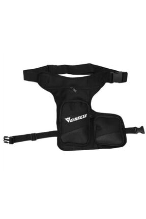 Moto Cabbaz Siyah Dainese Yazılı Motosiklet  Bacak Çantası