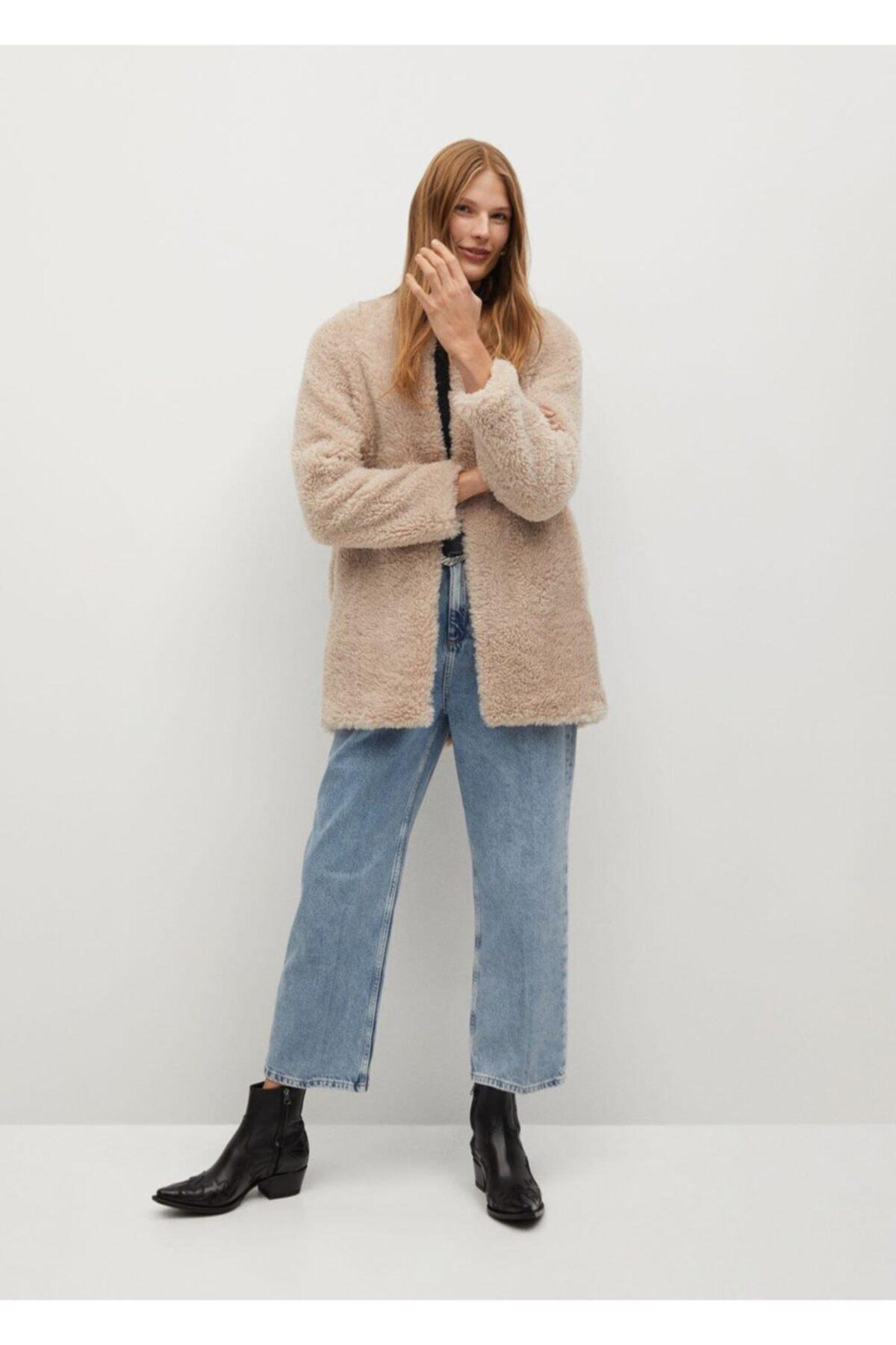 MANGO Woman Kadın Pembe Palto 2