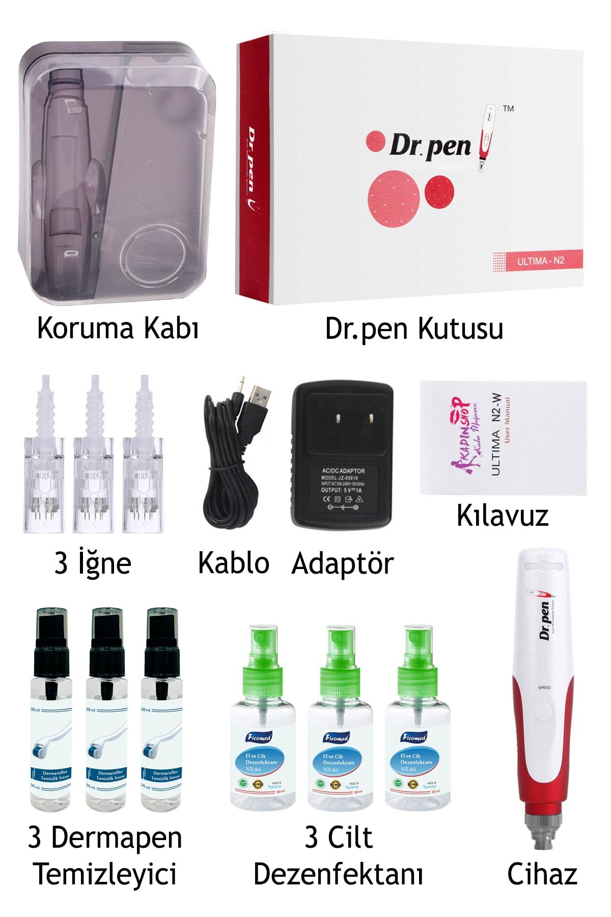 Dr.Pen N2-w Şarjlı Dermapen Cihazı ( Türkiye Garantili) Derma Pen Kalıcı Makyaj Dermaroller Cihazı 2
