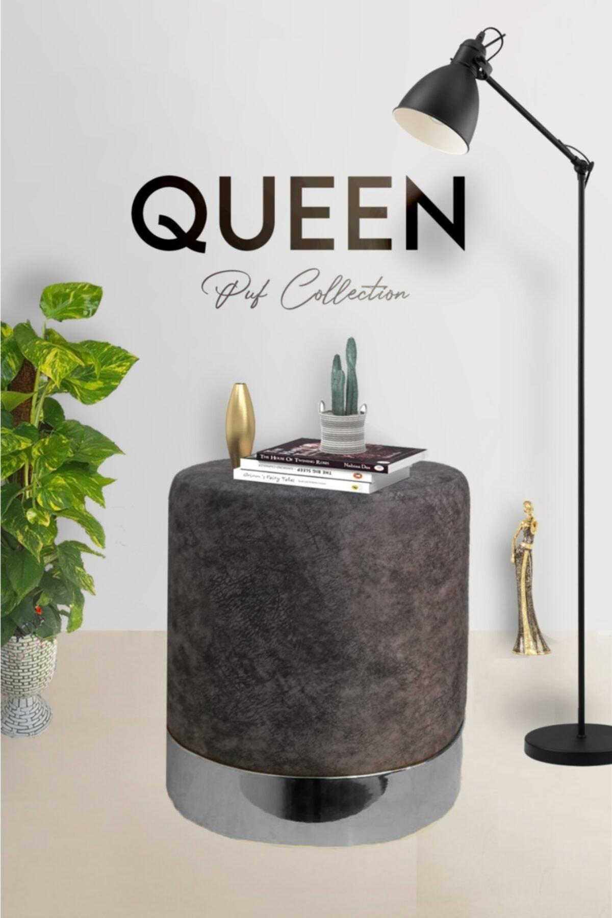 Zem Queen Grey - Silver Puf 1
