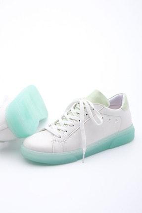 Marjin Kadın Yeşil Beyaz Sneaker Ayakkabı Riyo