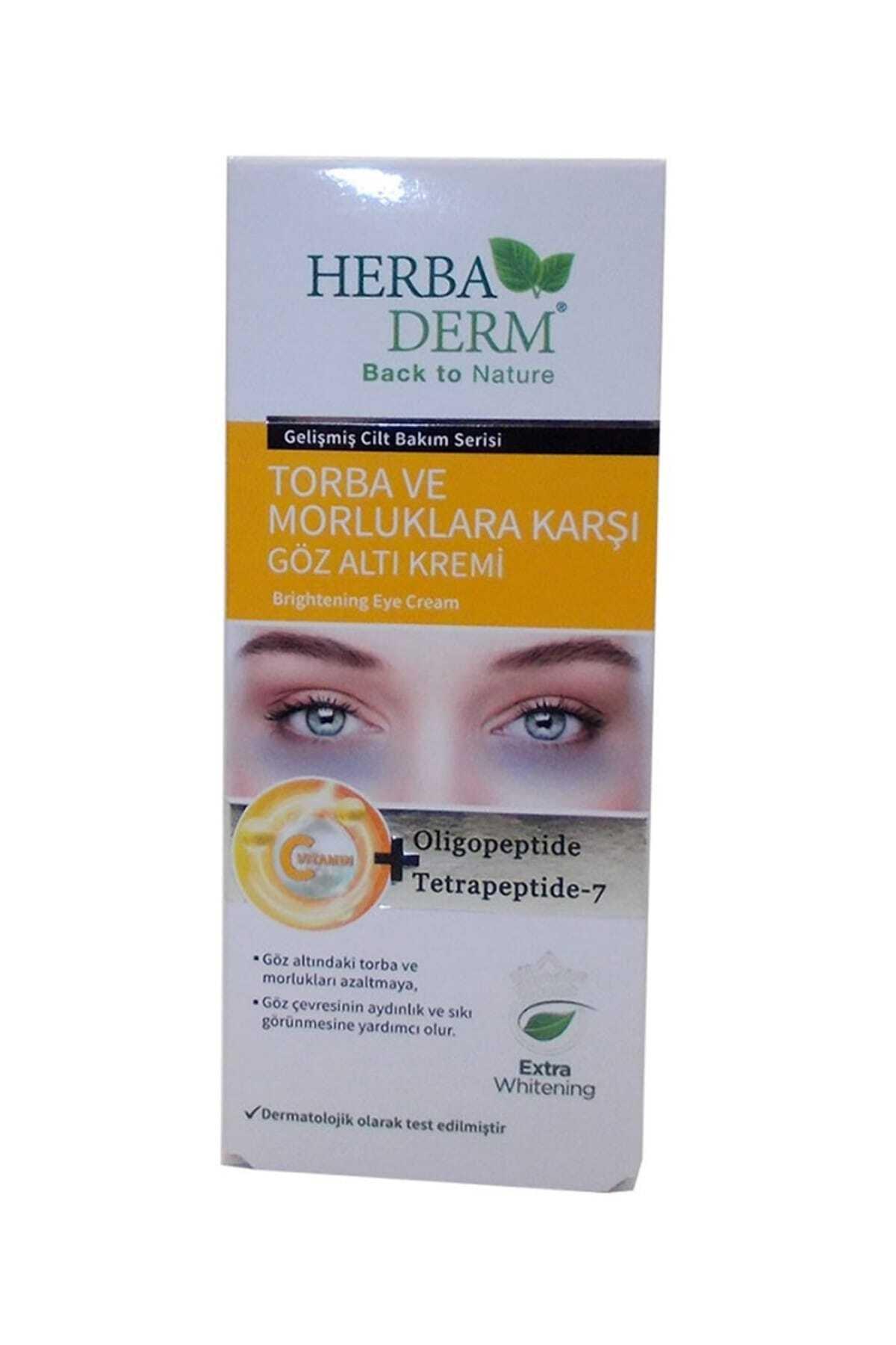 Herbaderm Göz Altı Torba Ve Morluklarına Karşı Krem 15ml 2