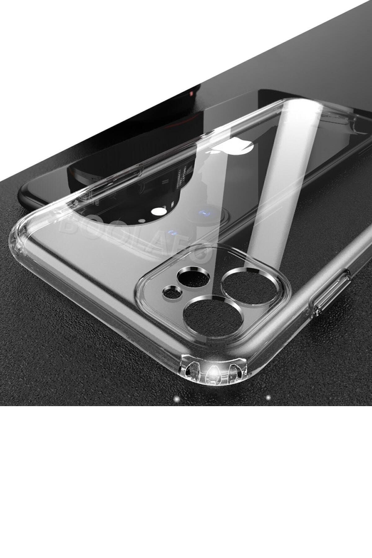 """dijimedia Iphone 11 6.1"""" Uyumlu Kılıf 3d Tıpalı Kamera Korumalı Şeffaf Silikon Kapak 1"""