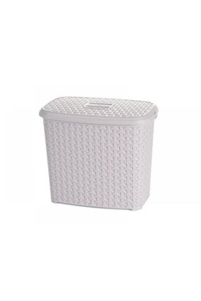 HOBBY LİFE Rattan Deterjan Kutusu Plastik Deterjanlık Beyaz 6 Lt.