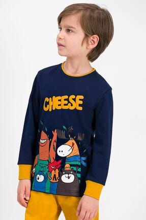 ROLY POLY Rolypoly Cheese Deer Lacivert Erkek Çocuk Pijama Takımı