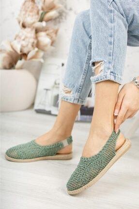Subaşı Kadın Yeşil Hasır Espadril Ayakkabı