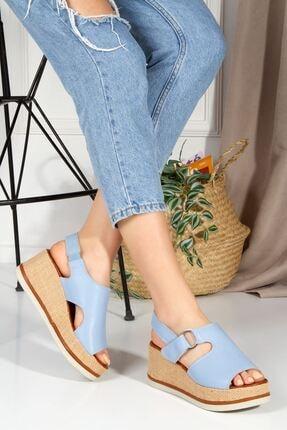 derithy Mavi sandalet