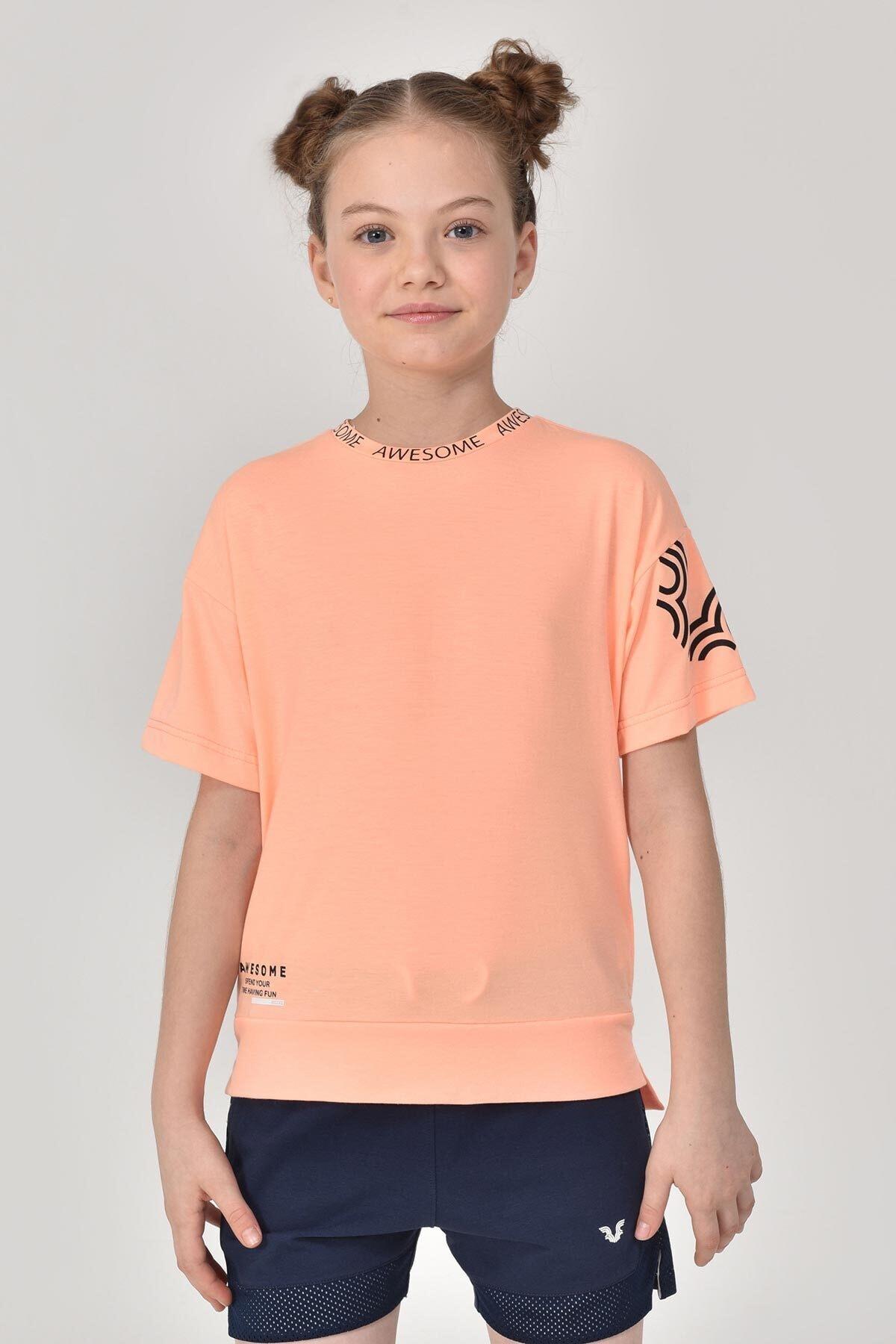 bilcee A.Turuncu Unisex Çocuk T-Shirt GS-8179 1