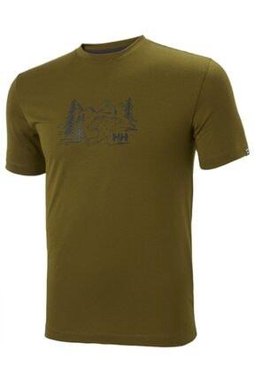Helly Hansen Erkek Yeşil T-shirt