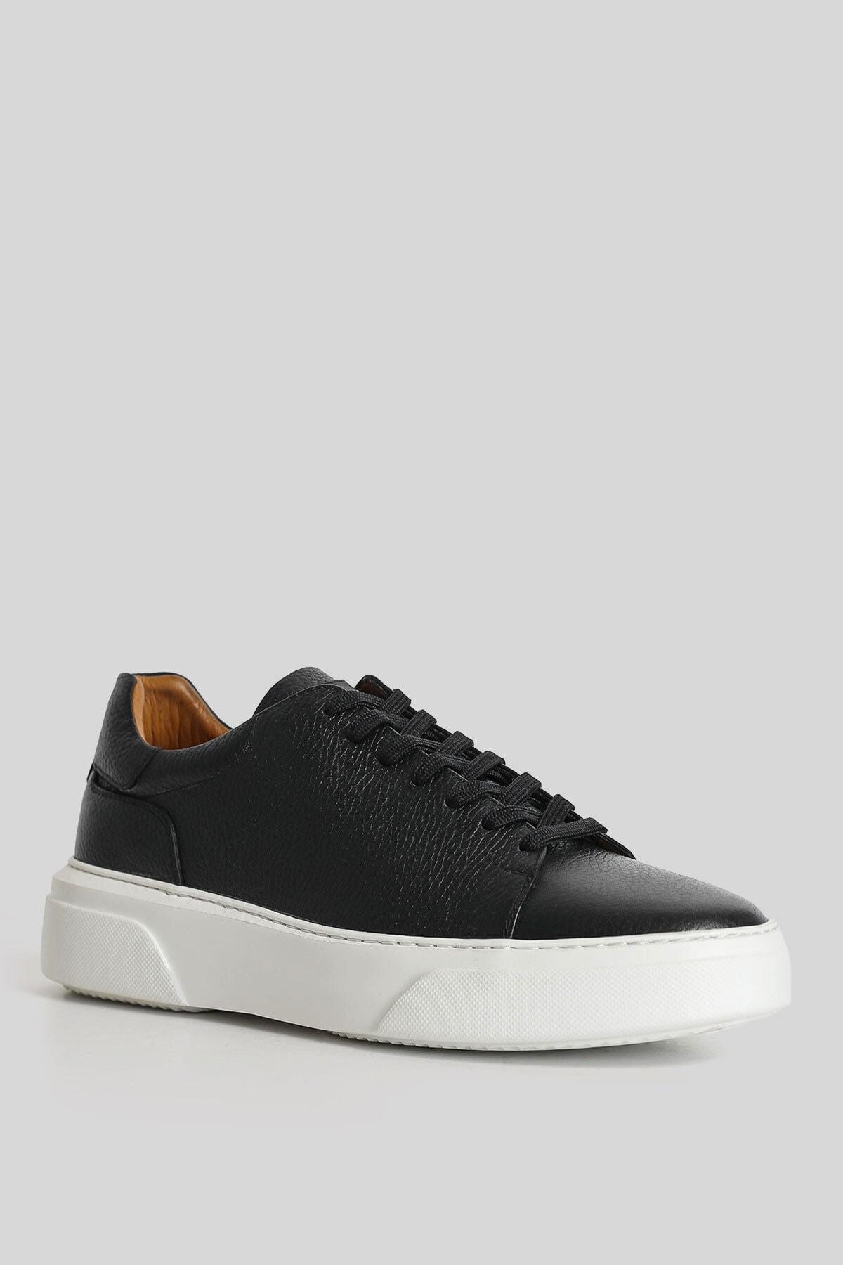 Lufian Tommy Deri Sneaker Siyah 2