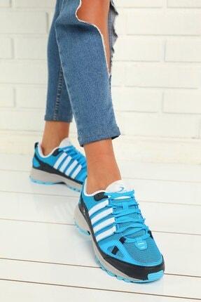 julude Kadın Turkuaz Bağcıklı Spor Ayakkabı