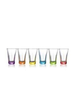 LAV Truva Küçük Su Bardağı 6 Lı Renkli Kahve Yanı Bardağı