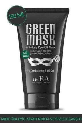 Dr. EA Laboratories Akne Önleyici Siyah Nokta Ve Sivilce Karsiti Soyulabilir Yesil Maske 150 ml
