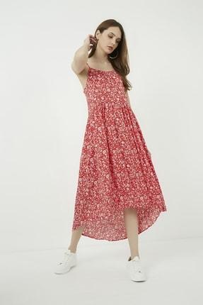 Vis a Vis Kadın Kırmızı Asimetrik Kesim Askılı Elbise
