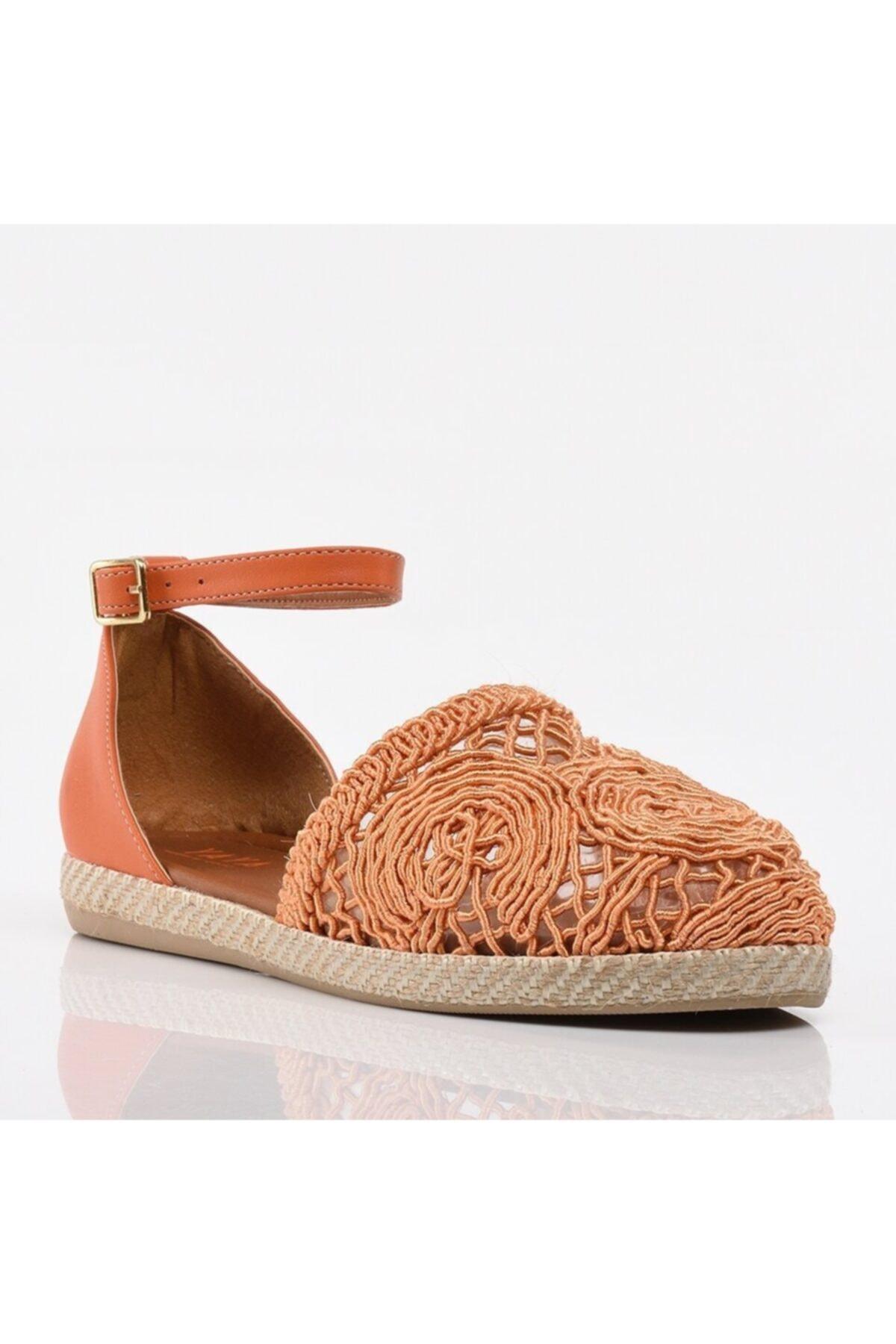 Hotiç Turuncu Yaya Kadın Günlük Ayakkabı 2