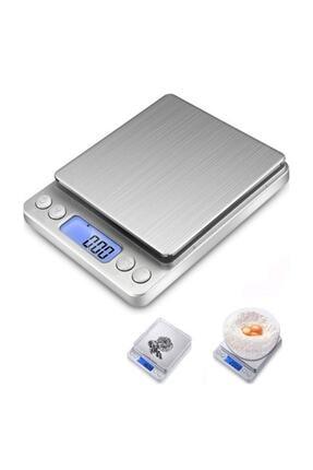 Gomax 2kg/0.1gr A Kalite Lüks Çelik Yapı Dijital Hassas Elektronik Mutfak Terazisi-tartısı