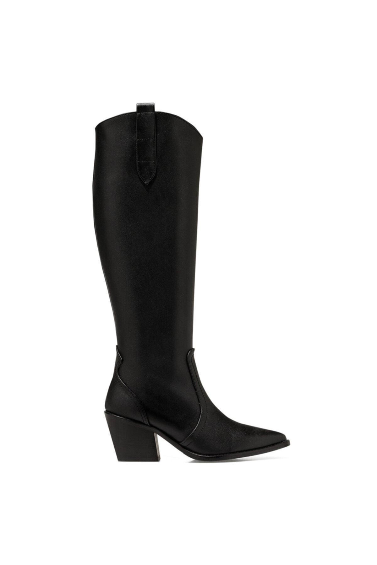 Nine West VINCENZA Siyah Kadın Ökçeli Çizme 100555812 1