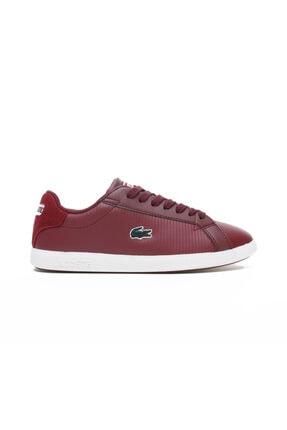 Lacoste Graduate 419 1 Sfa Kadın Arka Kısmı Süet Kırmızı Sneaker