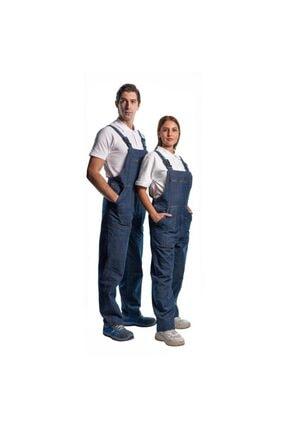 Endüstri Giyim Askılı Bahçıvan Tulum Kot Iş Tulumu Iş Elbisesi Kot Tulum