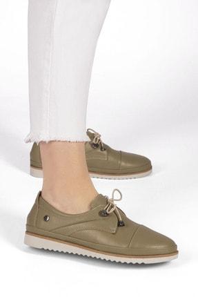 Marjin Demas Kadın Hakiki Deri Comfort Ayakkabıhaki